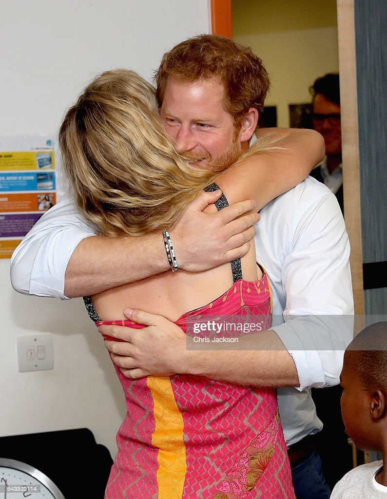 <a gi-track='captionPersonalityLinkClicked' href=/galleries/search?phrase=Prince+Harry&family=editorial&specificpeople=178173 ng-click='$event.stopPropagation()'>Prince Harry</a> greets <a gi-track='captionPersonalityLinkClicked' href=/galleries/search?phrase=Joss+Stone&family=editorial&specificpeople=201922 ng-click='$event.stopPropagation()'>Joss Stone</a> ahead of watching the Basotho Youth Choir, made up of six boys and six girls, aged between 7 and 19 years old, rehearse at the Brit School on June 27, 2016 in London, England. The Basotho Youth Choir will perform alongside Sentebale Ambassador <a gi-track='captionPersonalityLinkClicked' href=/galleries/search?phrase=Joss+Stone&family=editorial&specificpeople=201922 ng-click='$event.stopPropagation()'>Joss Stone</a> at tomorrow's Sentebale Concert at Kensington Palace, headlined by Coldplay. The choir members have all been supported by Sentebale's Secondary School Bursaries Progamme or Care for Vulnerable Children Programme. The Bursaries Programme covers the cost of school fees, uniforms and books for some of Lesotho's most disadvantaged children.
