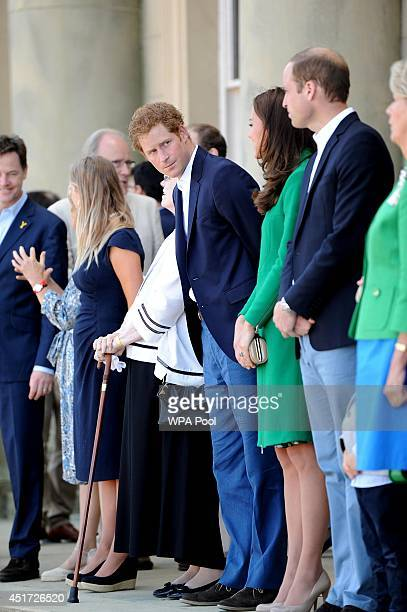 Prince Harry is seen before the official start of the Tour de France at Harewood House on July 5 2014 near Leeds England