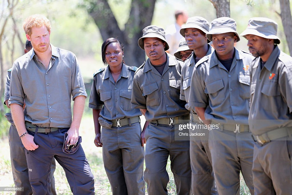 Prince Harry learns bush ranger skills as he visits the South African Wildlife College on December 2, 2015 in Hoedspruit, South Africa. Prince Harry is visiting South Africa as part of a Royal Tour that has included the Opening of a new Charity Centre for children in Lesotho (Sentebale's Mamohato Children's Centre) and includes stops in Durban, Cape Town, Kruger National Park and Johannesburg.