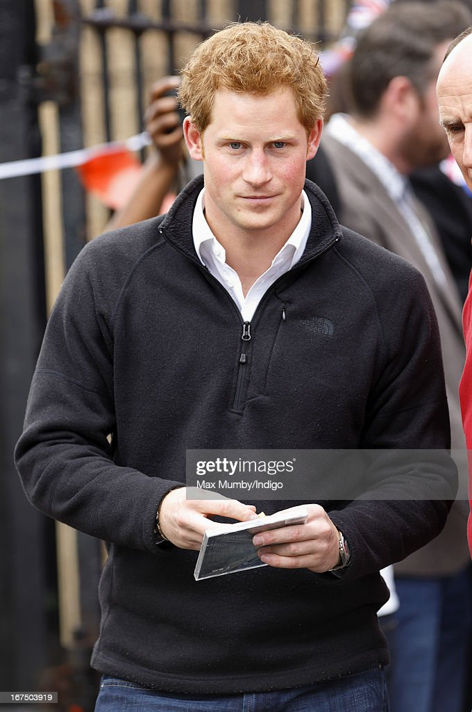 <a gi-track='captionPersonalityLinkClicked' href=/galleries/search?phrase=Prince+Harry&family=editorial&specificpeople=178173 ng-click='$event.stopPropagation()'>Prince Harry</a> leaves the Russell Youth Club during a day of engagements in Nottingham on April 25, 2013 in Nottingham, England.