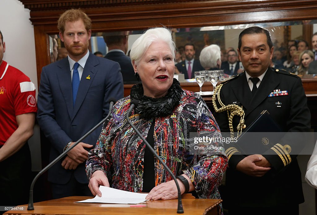 Prince Harry listens to the Honourable Elizabeth Dowdeswell, Lieutenant Governor, at a reception for supporters and organisers of the Invictus Games Toronto at the Office of the Lieutenant Governor on May 2, 2016 in Toronto, Canada. Prince Harry is in Toronto for the Launch of the 2017 Toronto Invictus Games before heading down to Miami and the 2016 Invictus Games in Orlando.