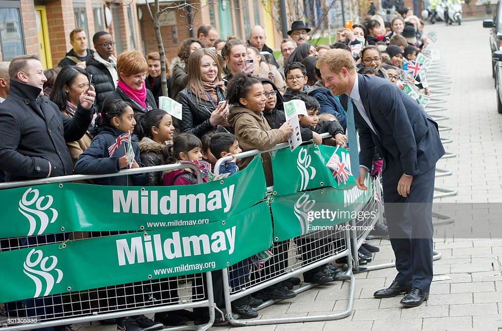 Prince Harry makes an official visit to Mildmay , a dedicated HIV hospital, to mark the opening of its purpose-built facilities at the new complex on December 14, 2015 in London, England. on December 14, 2015 in London, England.