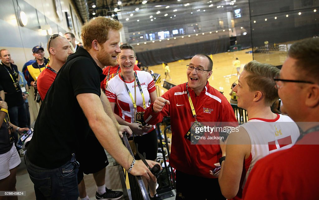 Prince Harry meets athletes as he visits venues ahead of Invictus Games Orlando 2016 at ESPN Wide World of Sports on May 6, 2016 in Orlando, Florida. Prince Harry, patron of the Invictus Games Foundation is in Orlando ahead of the opening of Invictus Games which will open on Sunday. The Invictus Games is the only International sporting event for wounded, injured and sick servicemen and women. Started in 2014 by Prince Harry the Invictus Games uses the power of Sport to inspire recovery and support rehabilitation.