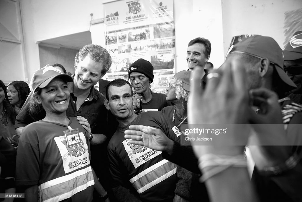 <a gi-track='captionPersonalityLinkClicked' href=/galleries/search?phrase=Prince+Harry&family=editorial&specificpeople=178173 ng-click='$event.stopPropagation()'>Prince Harry</a> meets crack-addict street cleaners during a visit to 'Cracolandia', an extremely deprived area of Sao Paulo with a high concentration of crack addicts on June 26, 2014 in Sao Paulo Brazil. Crack in Sao Paulo costs just 80 UK pence for a rock of the drug. <a gi-track='captionPersonalityLinkClicked' href=/galleries/search?phrase=Prince+Harry&family=editorial&specificpeople=178173 ng-click='$event.stopPropagation()'>Prince Harry</a> is on a four day tour of Brazil that will be followed by Two days in Chile.