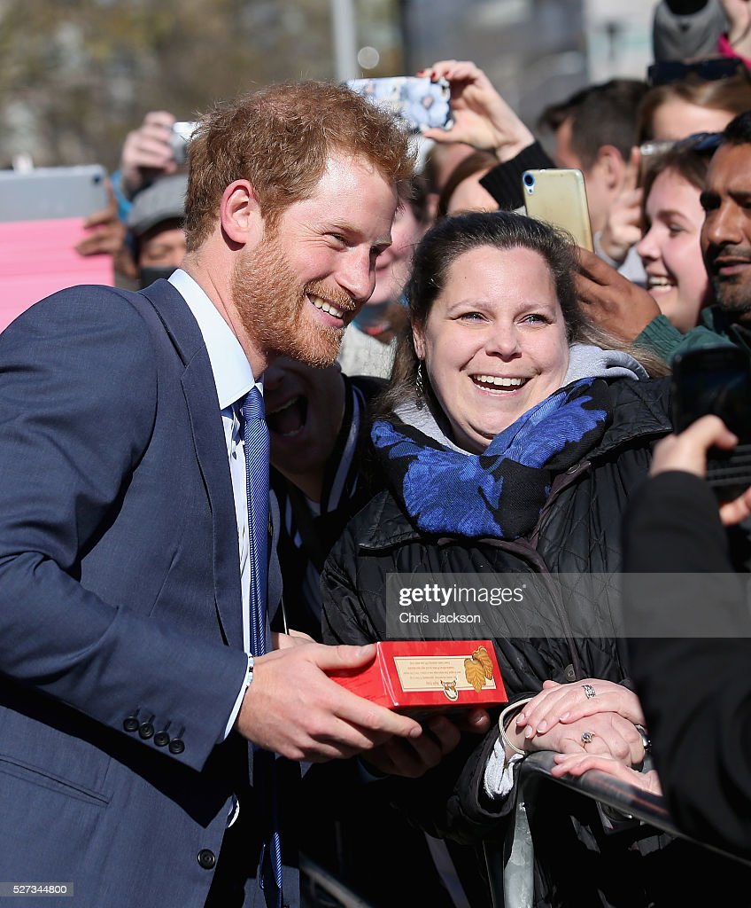 Prince Harry meets members of the public after attending a reception for supporters and organisers of the Invictus Games Toronto at the Office of the Lieutenant Governor on May 2, 2016 in Toronto, Canada. Prince Harry is in Toronto for the Launch of the 2017 Toronto Invictus Games before heading down to Miami and the 2016 Invictus Games in Orlando.