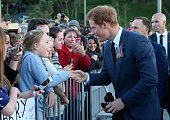 Prince Harry meets members of the Public outside the National War Memorial on May 9 2015 in Wellington New Zealand Prince Harry is in New Zealand...