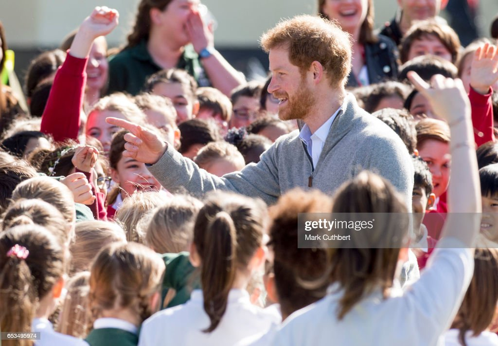 prince-harry-meets-school-children-under-the-queens-oak-tree-during-a-picture-id653495974