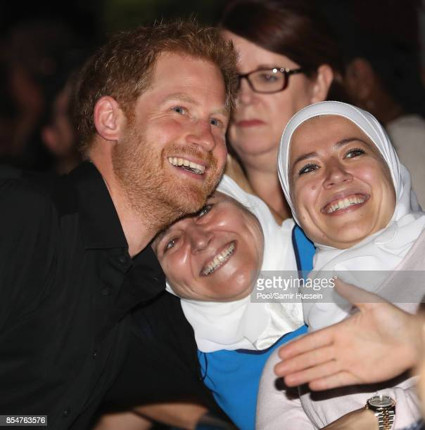 Prince Harry meets well wishers as he attends a reception at the CN Tower on day 4 of the Invictus Games Toronto 2017 on September 26 2017 in Toronto...