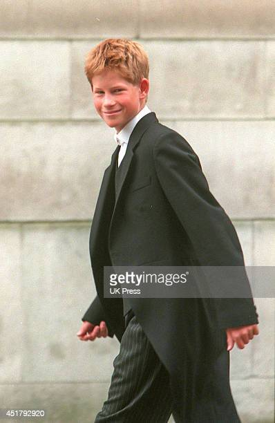 KINGDOM SEPTEMBER 3 Prince Harry on his first day at Eton College on September 3 1998 in Eton United Kingdom