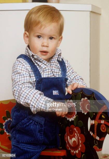 Prince Harry On His Rocking Horse At Kensington Palace
