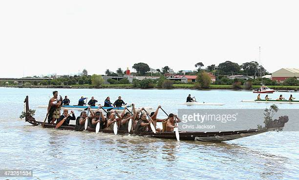 Prince Harry paddles as he takes a Waka journey on the Whanganui River on May 14 2015 in Wanganui New Zealand Prince Harry is in New Zealand from May...