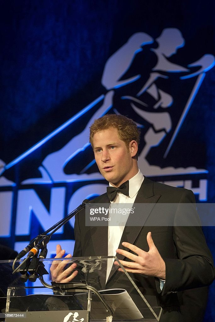 <a gi-track='captionPersonalityLinkClicked' href=/galleries/search?phrase=Prince+Harry&family=editorial&specificpeople=178173 ng-click='$event.stopPropagation()'>Prince Harry</a>, Patron of the Walking With The Wounded South Pole Allied Challenge, speaks at the Walking With The Wounded Crystal Ball Gala Dinner at The Grosvenor House Hotel on May 30, 2013 in London, England.