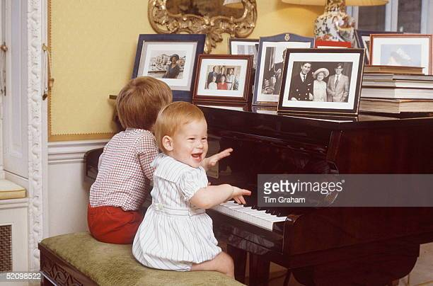 Prince Harry Playing The Piano At Home At Kensington Palace