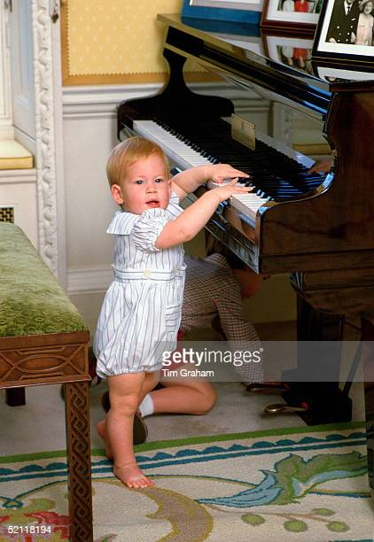 Prince Harry Playing The Piano At Home In Kensington Palace