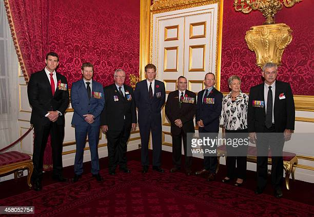 Prince Harry poses with Corporal Ben Roberts Smith VC Corporal Dan Keighran VC Michael Pratt GC Keith Payne VC OAM DSC Corporal Mark Donaldson VC...