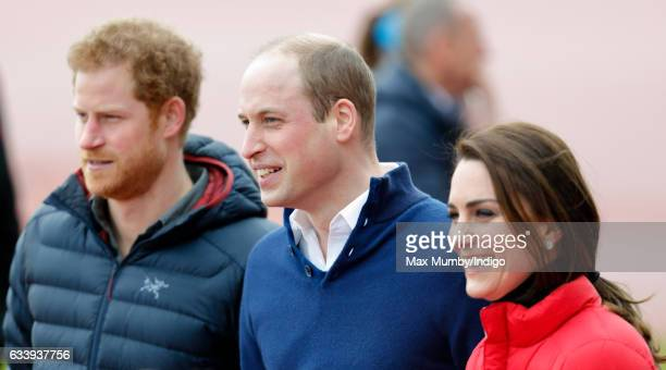 Prince Harry Prince William Duke of Cambridge and Catherine Duchess of Cambridge join a Team Heads Together London Marathon Training Day at the Queen...