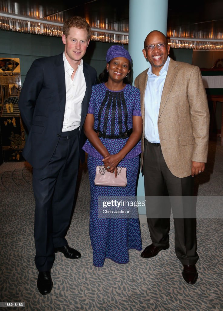 Prince Harry, Princess Mabereng and Sentebale founding patron Prince Seeiso Bereng Seeiso attend the Sentebale Summer Party at the Dorchester Hotel on May 7, 2014 in London, England.