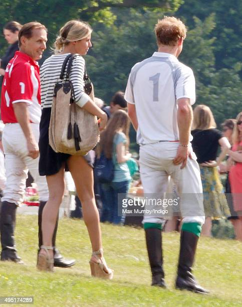 Prince Harry seen after playing in the Audi Polo Challenge at Coworth Park Polo Club on June 1 2014 in Ascot England