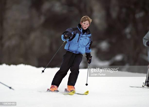 Prince Harry Skiing In Klosters Switzerland