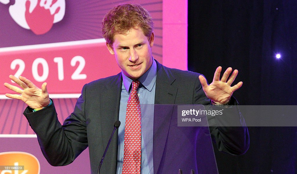 Prince Harry speaks at the WellChild Awards at the Intercontinental Hotel on September 3, 2012 in London, England.