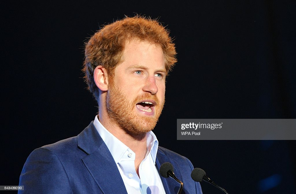 <a gi-track='captionPersonalityLinkClicked' href=/galleries/search?phrase=Prince+Harry&family=editorial&specificpeople=178173 ng-click='$event.stopPropagation()'>Prince Harry</a> speaks during the Sentebale Concert at Kensington Palace on June 28, 2016 in London, England. Sentebale was founded by <a gi-track='captionPersonalityLinkClicked' href=/galleries/search?phrase=Prince+Harry&family=editorial&specificpeople=178173 ng-click='$event.stopPropagation()'>Prince Harry</a> and Prince Seeiso of Lesotho over ten years ago. It helps the vulnerable and HIV positive children of Lesotho and Botswana.