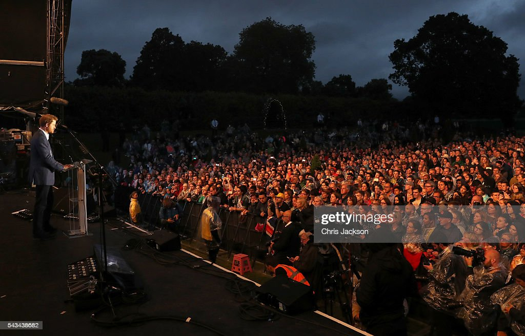 <a gi-track='captionPersonalityLinkClicked' href=/galleries/search?phrase=Prince+Harry&family=editorial&specificpeople=178173 ng-click='$event.stopPropagation()'>Prince Harry</a> speaks on stage during the Sentebale Concert at Kensington Palace on June 28, 2016 in London, England. Sentebale was founded by <a gi-track='captionPersonalityLinkClicked' href=/galleries/search?phrase=Prince+Harry&family=editorial&specificpeople=178173 ng-click='$event.stopPropagation()'>Prince Harry</a> and Prince Seeiso of Lesotho over ten years ago. It helps the vulnerable and HIV positive children of Lesotho and Botswana.
