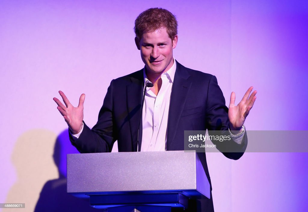 <a gi-track='captionPersonalityLinkClicked' href=/galleries/search?phrase=Prince+Harry&family=editorial&specificpeople=178173 ng-click='$event.stopPropagation()'>Prince Harry</a> speaks on stage during the Sentebale Summer Party at the Dorchester Hotel on May 7, 2014 in London, England.