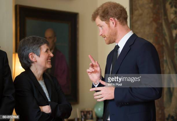 Prince Harry speaks to Cressida Dick while attending a Service of Hope following the recent Westminster terror attack at a service at Westminster...