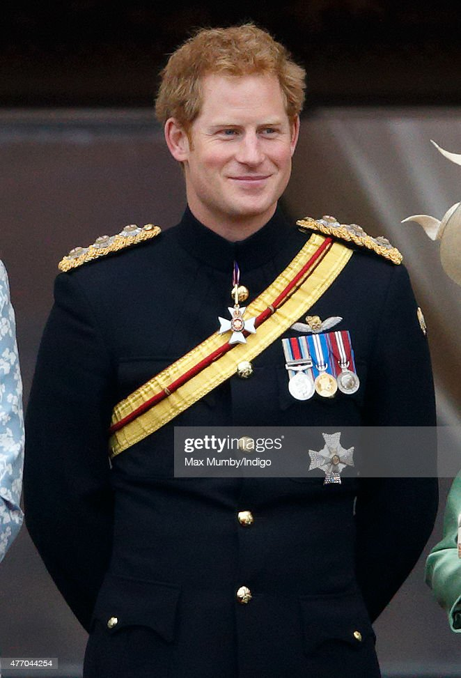 Prince Harry stands on the balcony of Buckingham Palace during Trooping the Colour on June 13, 2015 in London, England. The ceremony is Queen Elizabeth II's annual birthday parade and dates back to the time of Charles II in the 17th Century, when the Colours of a regiment were used as a rallying point in battle.