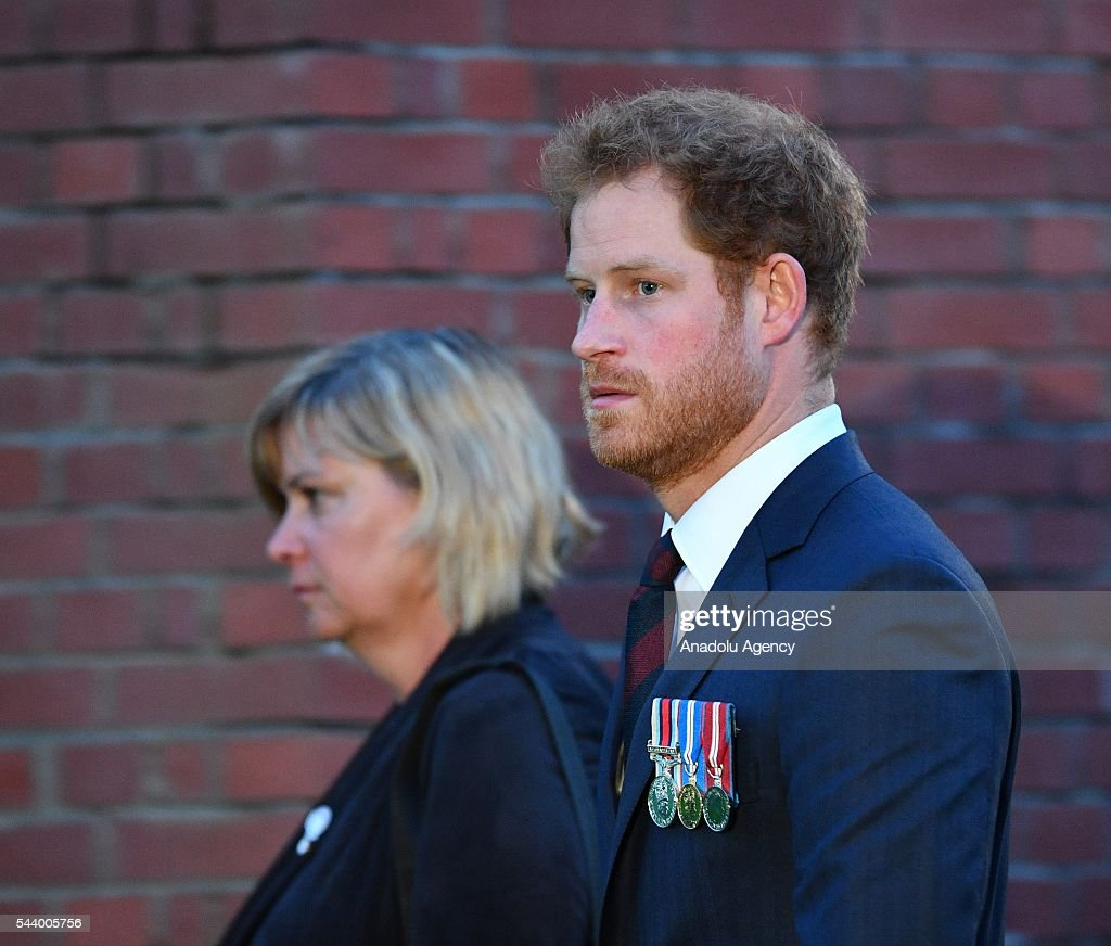 Prince Harry takes part in a vigil at Thiepval Memorial to the Missing of the Somme during Somme Centenary Commemorations on June 30, 2016 in Thiepval, France.