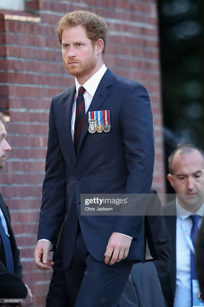 <a gi-track='captionPersonalityLinkClicked' href=/galleries/search?phrase=Prince+Harry&family=editorial&specificpeople=178173 ng-click='$event.stopPropagation()'>Prince Harry</a> takes part in a vigil at Thiepval Memorial to the Missing of the Somme during Somme Centenary Commemorations on June 30, 2016 in Thiepval, France.