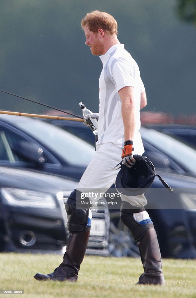 <a gi-track='captionPersonalityLinkClicked' href=/galleries/search?phrase=Prince+Harry&family=editorial&specificpeople=178173 ng-click='$event.stopPropagation()'>Prince Harry</a> takes part in the Audi Polo Challenge at Coworth Park Polo Club on May 28, 2016 in Ascot, England.