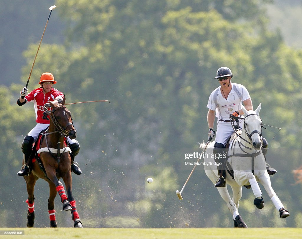 Prince Harry takes part in the Audi Polo Challenge at Coworth Park Polo Club on May 29, 2016 in Ascot, England.