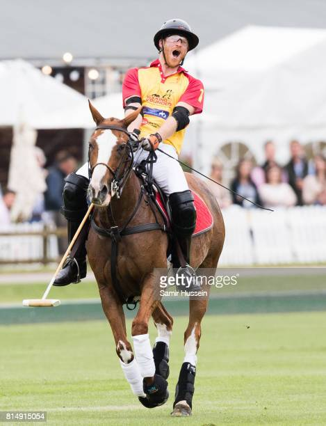 Prince Harry takes part in The Jerudong Park Trophy at Cirencester Park Polo Club on July 15 2017 in Cirencester England