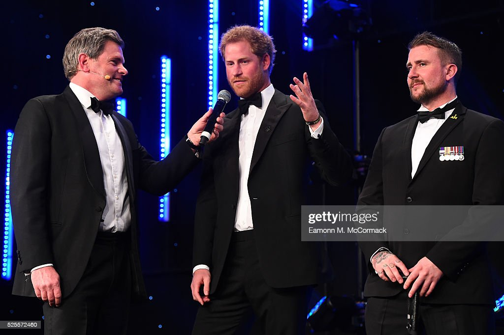 <a gi-track='captionPersonalityLinkClicked' href=/galleries/search?phrase=Prince+Harry&family=editorial&specificpeople=178173 ng-click='$event.stopPropagation()'>Prince Harry</a> talks with Mark Durden-Smith (L) about the Invictus Games at Battersea Evolution on April 28, 2016 in London, England. The BT Sport Industry Awards is the most prestigious commercial sports awards ceremony in Europe, where over 1750 of the industry's key decision-makers mix with high profile sporting celebrities for the most important networking occasion in the sport business calendar.