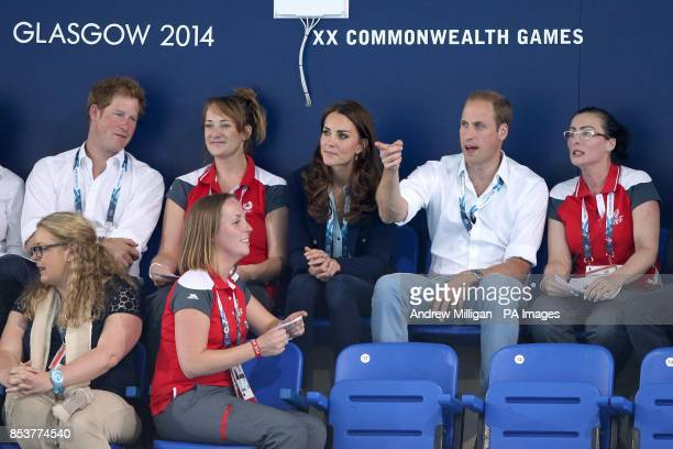 Prince Harry The Duke and Duchess of Cambridge attend the swimming session at Tollcross Swimming Centre during the 2014 Commonwealth Games in Glasgow