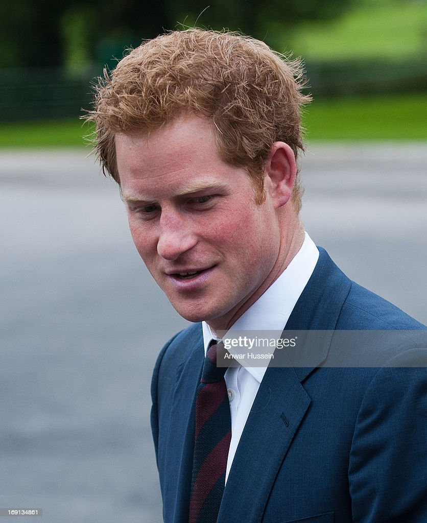 Prince Harry visits Help For Heroes Recovery Centre at Tedworth House on May 20, 2013 in Tidworth, England.