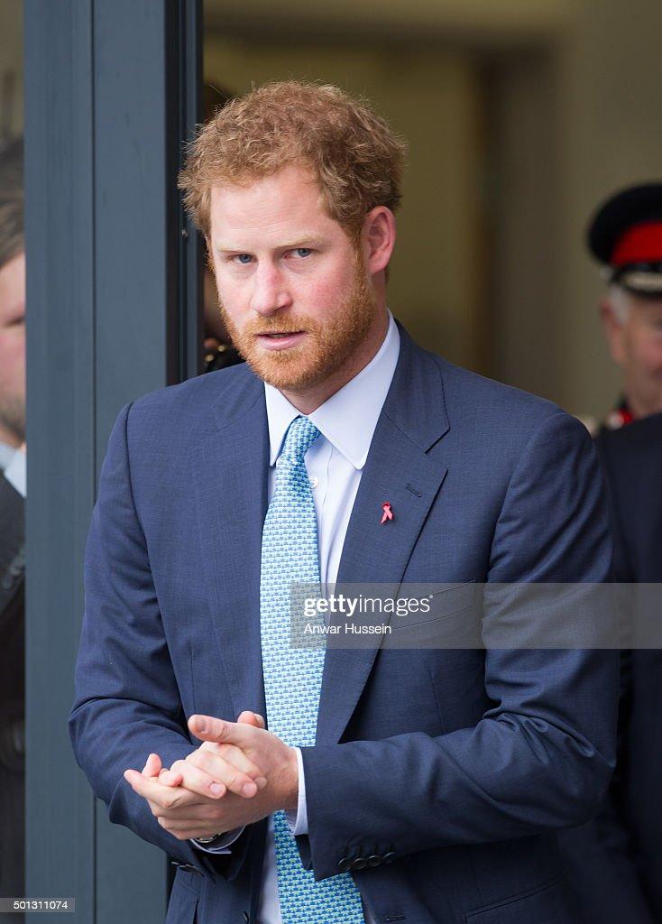 Prince Harry visits Mildmay Hospital, a dedicated HIV hospital on December 14, 2015 in London, England.
