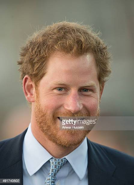 Prince Harry visits Paignton Rugby Club on October 7 2015 in Paignton England Prince Harry is visiting the club in support of the RFU's World Cup...