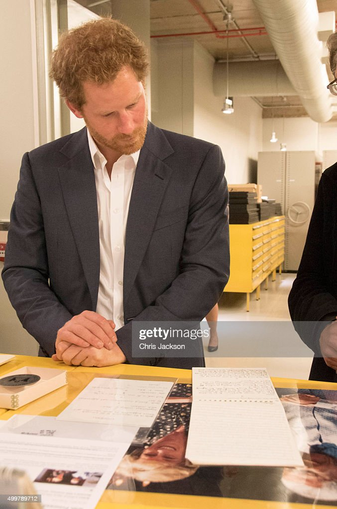 Prince Harry visits the archives at the Nelson Mandela Foundation Centre of Memory on December 3, 2015 in Johannesburg, South Africa. Prince Harry is visiting South Africa as part of a Royal Tour that has included the Opening of a new Charity Centre for children in Lesotho (Sentebale's Mamohato Children's Centre) and includes stops in Durban, Cape Town, Kruger National Park and Johannesburg.