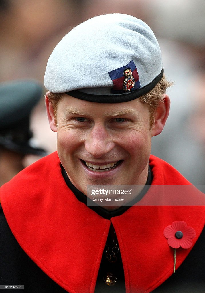 <a gi-track='captionPersonalityLinkClicked' href=/galleries/search?phrase=Prince+Harry&family=editorial&specificpeople=178173 ng-click='$event.stopPropagation()'>Prince Harry</a> visits the field of remembrance at Westminster Abbey on November 7, 2013 in London, England.