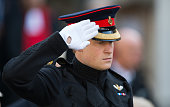 Prince Harry visits the Field of Remembrance at Westminster Abbey on November 6 2014 in London England