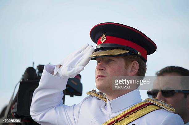 Prince Harry visit's the Helles Memorial which commemorates Commonwealth soldiers killed during the Gallipoli campaign prior to one of the main...
