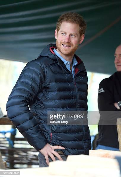 Prince Harry visits the Help for Heroes Recovery Centre at Tedworth House on January 23 2017 in Wiltshire England