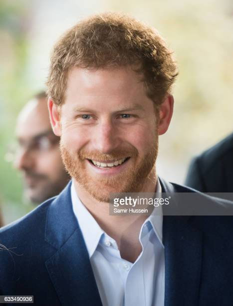 Prince Harry visits The London Ambulance Service for the Heads Together mental health charity in support of'Time to Talk' day on February 2 2017 in...