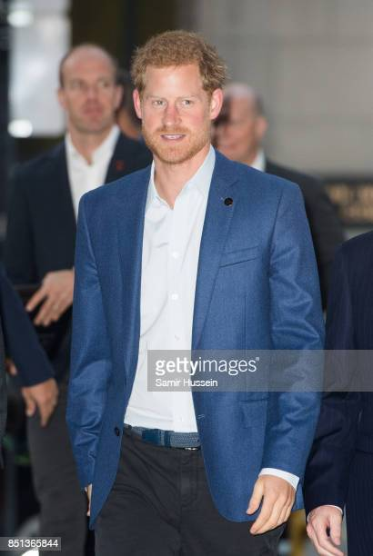 Prince Harry visits True Patriot Love Symposium at Scotia Plaza on day 1 of the Invictus Games Toronto 2017 on September 22 2017 in Toronto Canada...