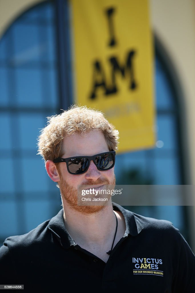 Prince Harry visits venues ahead of Invictus Games Orlando 2016 at ESPN Wide World of Sports on May 6, 2016 in Orlando, Florida. Prince Harry, patron of the Invictus Games Foundation is in Orlando ahead of the opening of Invictus Games which will open on Sunday. The Invictus Games is the only International sporting event for wounded, injured and sick servicemen and women. Started in 2014 by Prince Harry, the Invictus Games uses the power of Sport to inspire recovery and support rehabilitation.