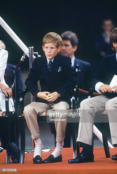 Prince Harry Watching Vj Day Kicks Off His New Shoes
