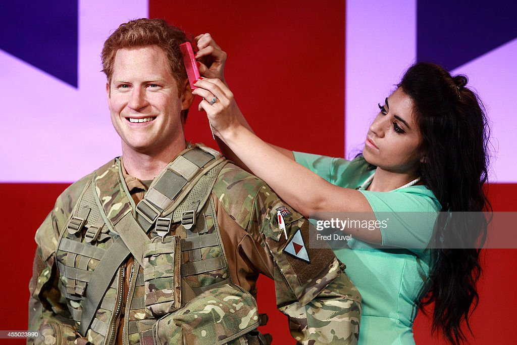 <a gi-track='captionPersonalityLinkClicked' href=/galleries/search?phrase=Prince+Harry&family=editorial&specificpeople=178173 ng-click='$event.stopPropagation()'>Prince Harry</a> waxwork A new wax figure of <a gi-track='captionPersonalityLinkClicked' href=/galleries/search?phrase=Prince+Harry&family=editorial&specificpeople=178173 ng-click='$event.stopPropagation()'>Prince Harry</a> is unveiled at Madame Tussauds on September 9, 2014 in London, England.