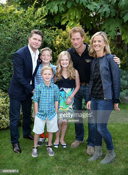 Prince Harry with American Ambassador Matthew Barzun at an Invictus Games Reception at the American Ambassador's Residence Winfield House on...
